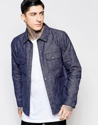 Стеганая рубашка‑куртка Lee - Темно-синий