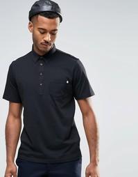 Трикотажная футболка-поло Farah - Черный