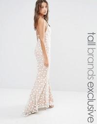 Кружевное платье макси Jarlo Tall - Телесный