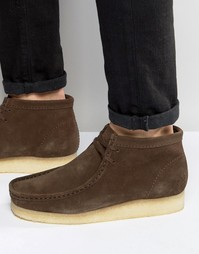 Ботинки Clarks Originals Wallabee - Коричневый