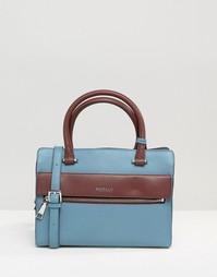 Маленькая кожаная сумка‑тоут Modalu - Airforce blue