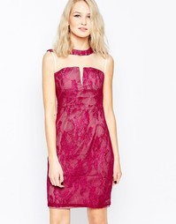 Кружевное платье-футляр Little Mistress - Розовый