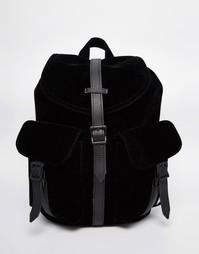 Бархатный рюкзак с кожаной отделкой Herschel Supply Co Dawson