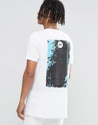Длинная футболка с принтом Muse Tour ASOS - Белый