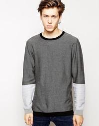 Джемпер с контрастными рукавами Cheap Monday - Черный