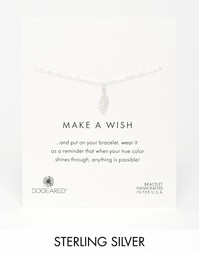 Серебряный браслет с пером Dogeared Make A Wish - Серебряный