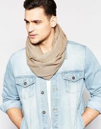 Легкий шарф-снуд в полоску Esprit - Бежевый
