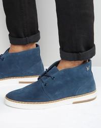Замшевые ботинки чукка Lyle & Scott Brack - Темно-синий