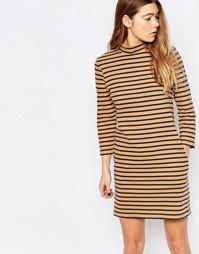 Платье в полоску Wood Wood Mary - Светло-коричневый в полоску