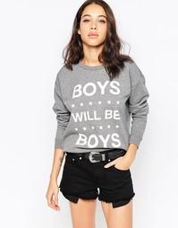 Свитер с надписью Boys Will Be Boys South Parade - Серый