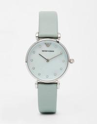 Часы с кожаным ремешком Emporio Armani Gianni Mint - Мятный