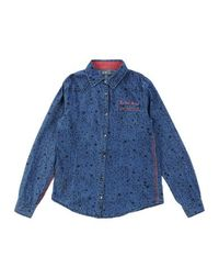 Джинсовая рубашка LE Petit Marcel