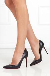 Черные Кожаные туфли Decollete 100 Christian Louboutin
