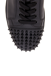 Кожаные кеды Louis Junior Spikes Flat Christian Louboutin