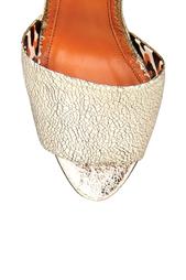 Босоножки из металлизированной кожи Mischievous Wedges Charlotte Olympia