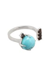Серебряное кольцо с бирюзой и раух-топазами Moonka