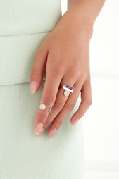 Серебряное кольцо с кварцем и аметистами Moonka