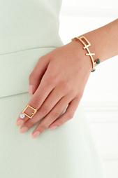 Позолоченный браслет с малахитом Moonka