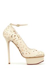 Белые Кожаные туфли Scribble Dolores Charlotte Olympia