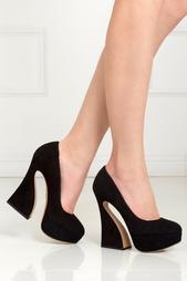 Черные Замшевые туфли Millicent Charlotte Olympia