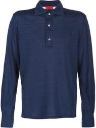 рубашка-поло с длинными рукавами Isaia