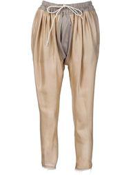 Брюки с поясом на шнуровке Vivienne Westwood Gold Label