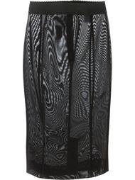 прозрачная юбка Dolce & Gabbana