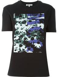 футболка с фото-принтом маргариток McQ Alexander McQueen