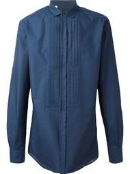 рубашка с плиссированным нагрудником  Dolce & Gabbana