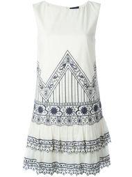 платье с вышивкой и рюшами Twin-Set