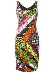 платье с цветочным принтом   Versace