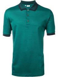 футболка-поло с контрастным воротником и окантовкой на рукавах  Brioni