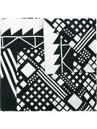 шарф с геометрическим принтом Pierre-Louis Mascia