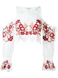 блузка с цветочной вышивкой  For Love And Lemons