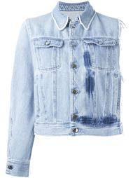 джинсовая куртка асимметричного кроя  Mm6 Maison Margiela