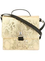 сумка на плечо с эффектом змеиной кожи  Mm6 Maison Margiela