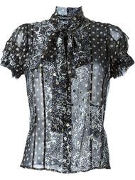 прозрачная блузка с принтом Haider Ackermann