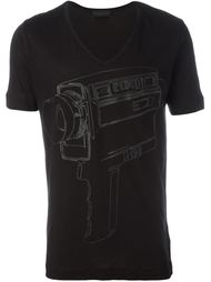 футболка с принтом камеры Diesel Black Gold
