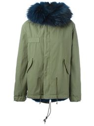 raccoon and coyote fur lined jacket Mr & Mrs Italy