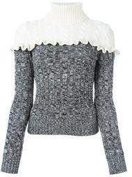 свитер с высоким горлом и оборками Philosophy Di Lorenzo Serafini
