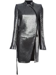 пальто с эффектом металлик  Ann Demeulemeester