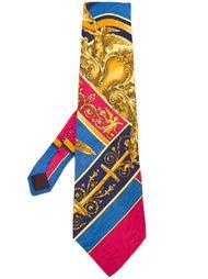"""галстук с принтом в стиле """"барокко"""" Versace Vintage"""