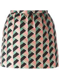 юбка с геометрическим узором Red Valentino