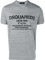 """футболка с принтом """"Caten Twin"""" Dsquared2"""