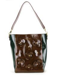 сумка-тоут с цветочной аппликацией Muveil