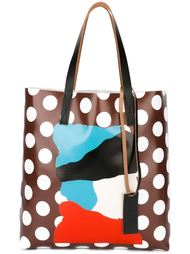 сумка-шоппер с принтом в горох Marni