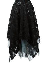 многослойная юбка с вышивкой Marc Le Bihan