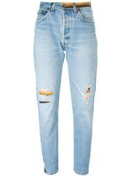 джинсы с рваной отделкой Re/Done