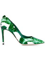 туфли-лодочки с банановыми листьями Dolce & Gabbana