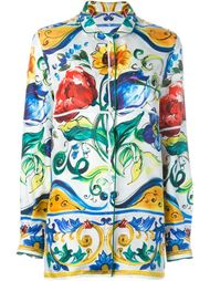 рубашка с принтом 'Majolica' Dolce & Gabbana